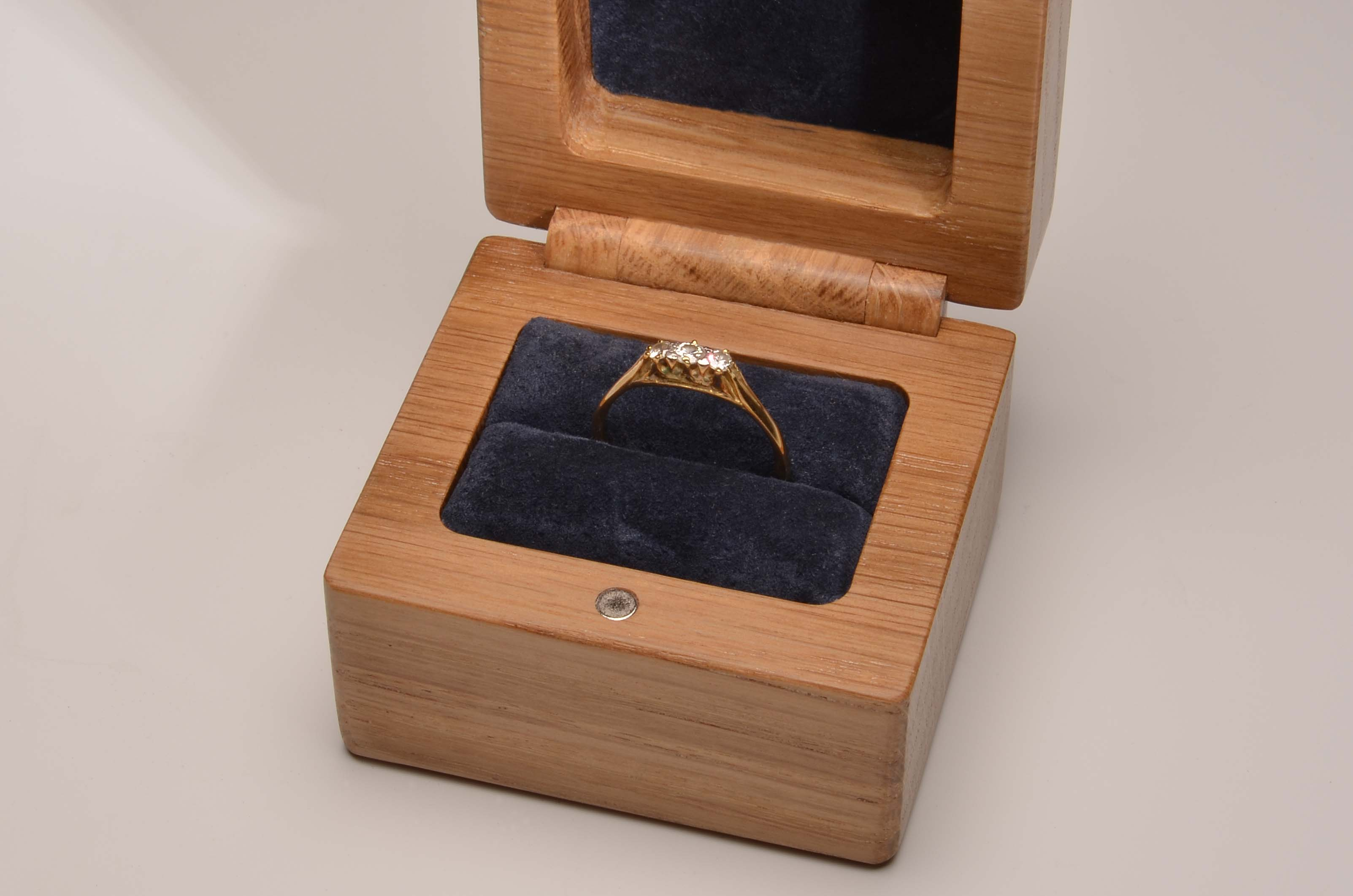 handmade double wedding or engagement ring box