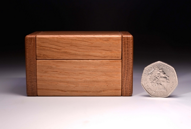 Personalised Oak double ring box