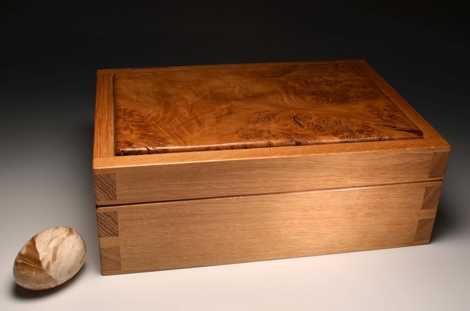 Handmade exclusively from English Oak and Burr oak - No. 211/001