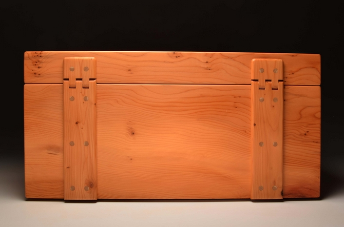 Handmade Yew Jewellery chest - No 0074