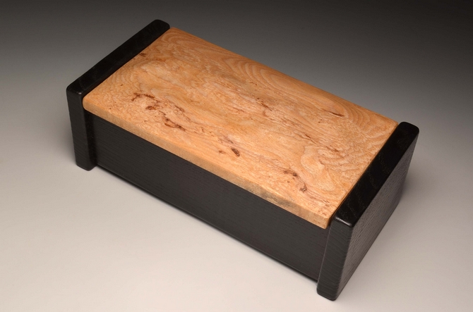 A keepsake box in Burr and torched Ash 0062