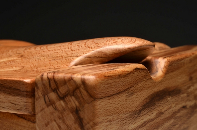 A handmade jewellery box in Spalted Beech - No.0020