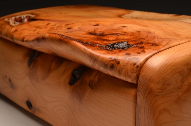 Handmade Yew Desk box No.0169