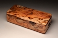 Figured Yew handmade trinket box No 0093