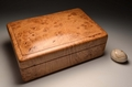 Handmade Burr Oak watch display case No. 0072