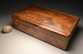Handmade Burr Walnut watch display case No. 0073