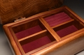 A handmade walnut jewellery box No.0150