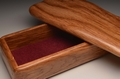 Handmade Brown Oak trinket box No.0152