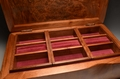 Burr Walnut handmade jewellery box No.0186