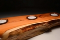 Large handmade solid Yew tealight (VT10)