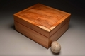 A Handmade Yew watch display case No. 0070