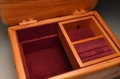 A jewellery box handmade from Yew No.0148