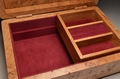 Handmade Burr Oak jewellery box No.0165