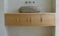 Oak hand basin unit