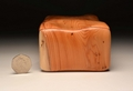 Handmade trinket box from solid Yew No 0061