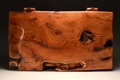 A solid Yew handmade jewellery chest No.212/005
